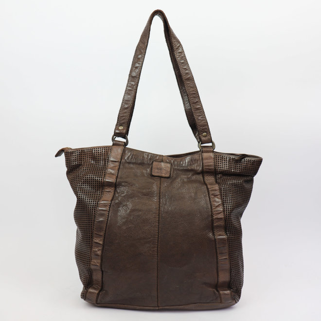 Shopper perforated CL 35106 Bruin