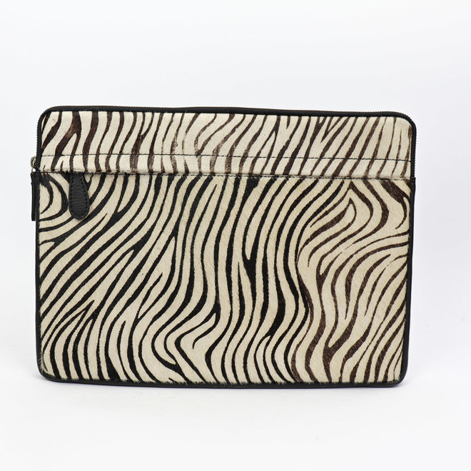 Laptop sleeve leder - HH 2941 Zebra