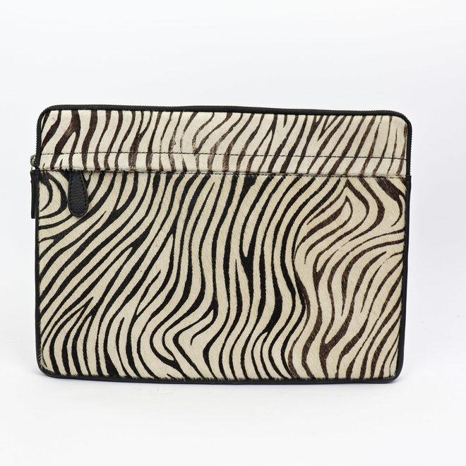 Laptopsleeve leder - HH 2941 Zebra