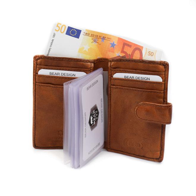 Kreditkartenetui CL527 Cognac