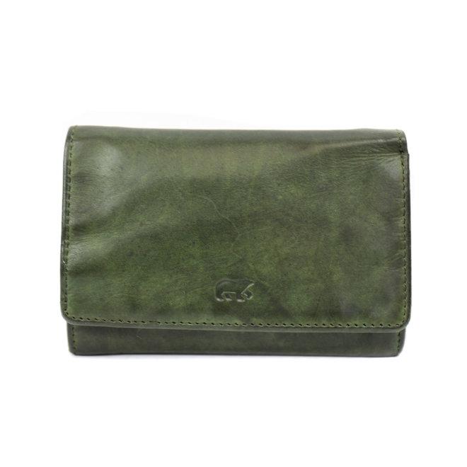 Kleine dames portemonnee - CL 15572 groen RFID