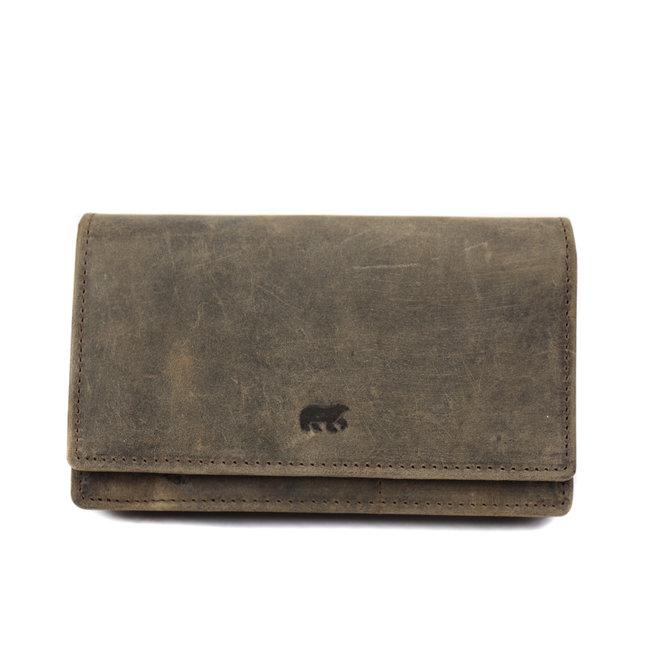 Overslag portemonnee RFID Klassiek HD782 Bruin