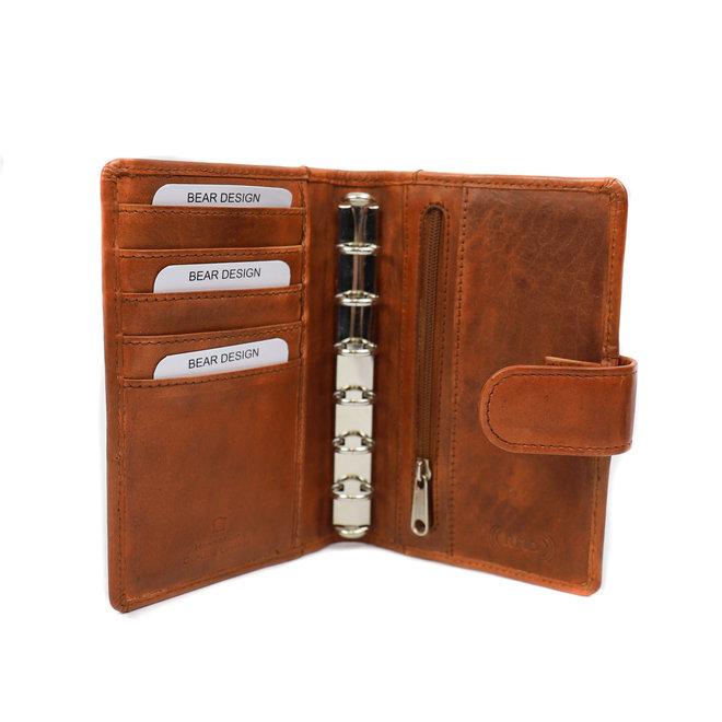 Agenda omslag leer klein - Cognac CL 8337