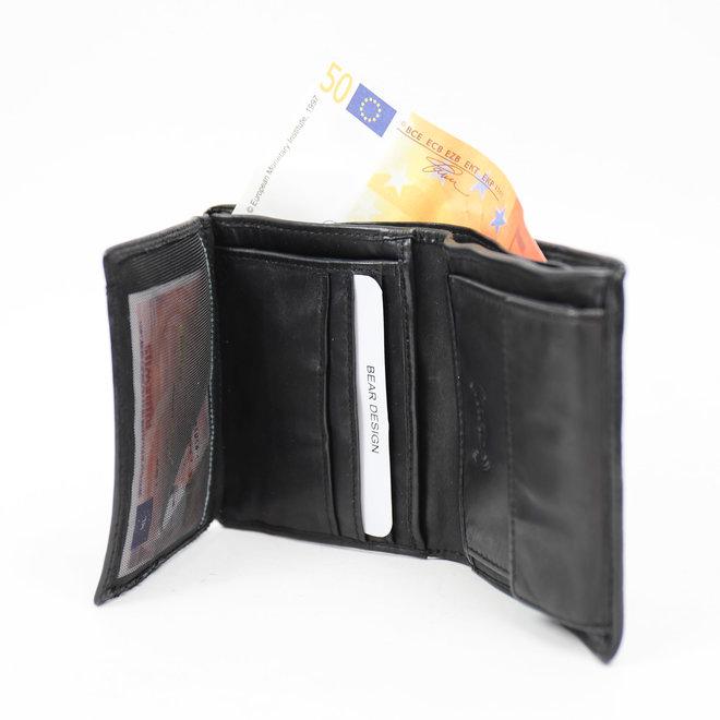 Dunne billfold hoog - CL14985 Zwart