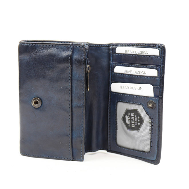 Kleine dames portemonnee - CL 15572 Blauw RFID