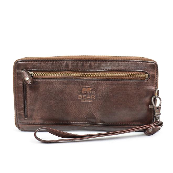Geldbörse mit Reißverschluss CL 15882 Braun