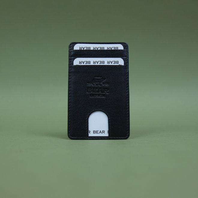 Telefoon portemonnee - plak hoesje Zwart