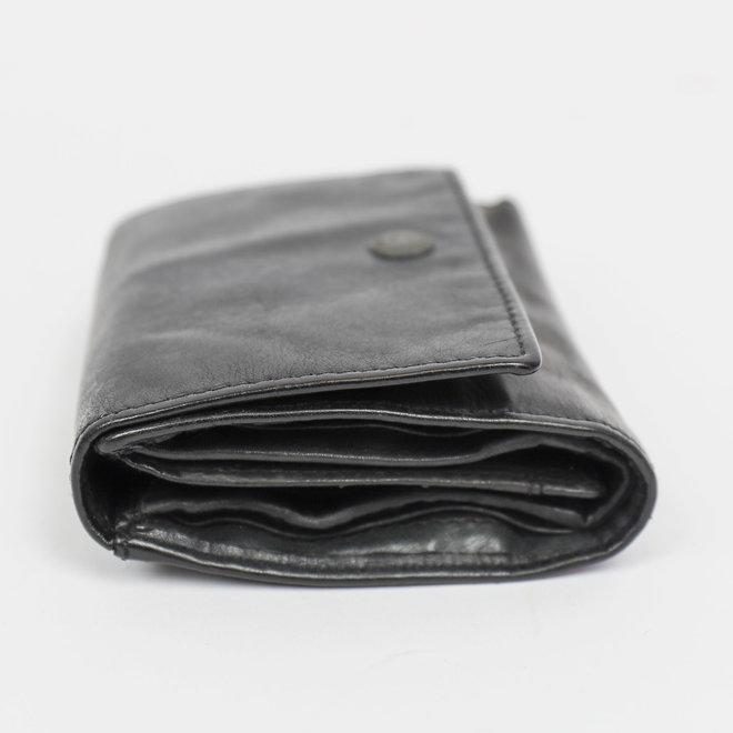 Drukknoop portemonnee - CL 15803 Zwart