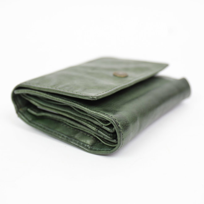 Drukknoop portemonnee - CL 15803 Groen