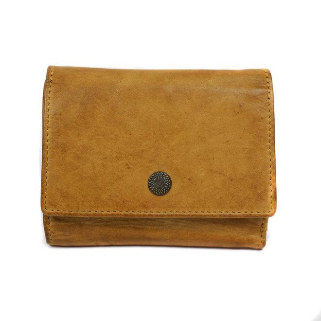 Drukknoop portemonnee - CL 15803 Okergeel