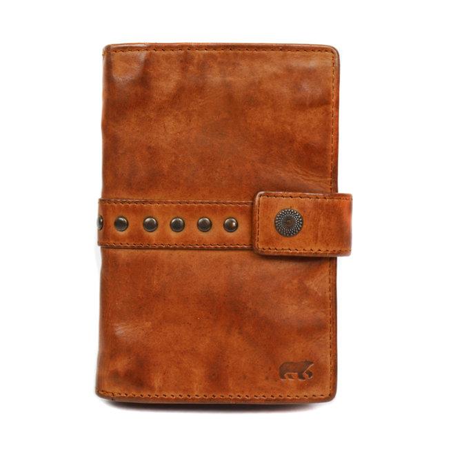 Damen Portemonnaie 'Studs' - Cognac CL 15087