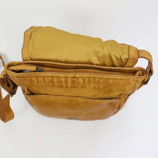 Klein Schoudertasje 'Mattea' - Oker geel CL32609