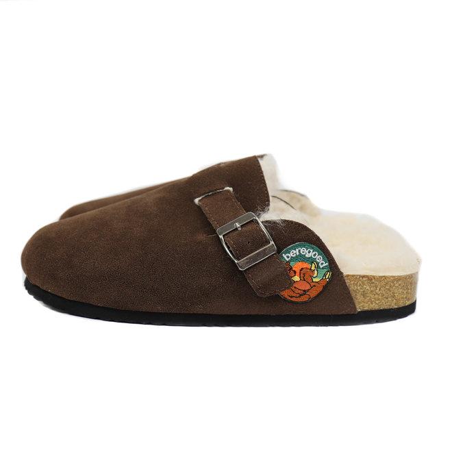 Spaanse pantoffels 'Joppe' - Donkerbruin Unisex