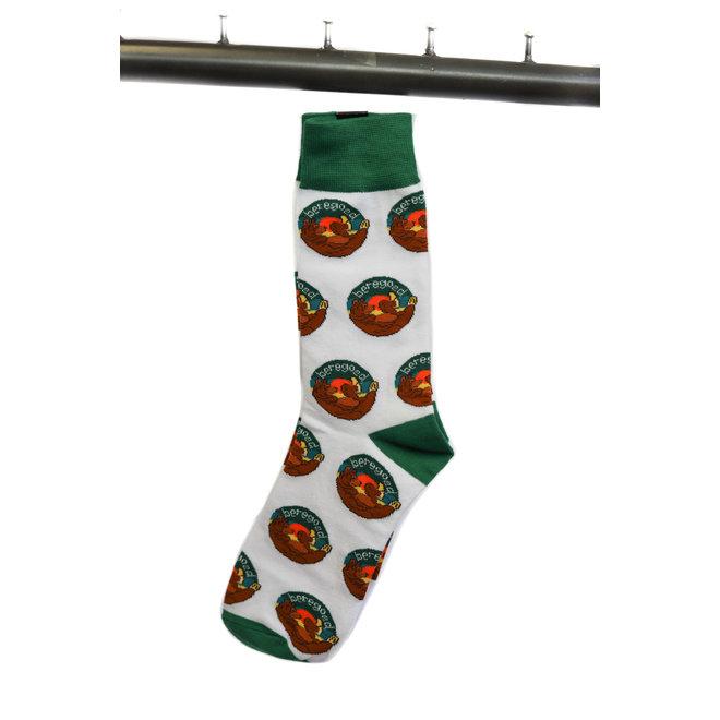 Unisex sokken groen/wit