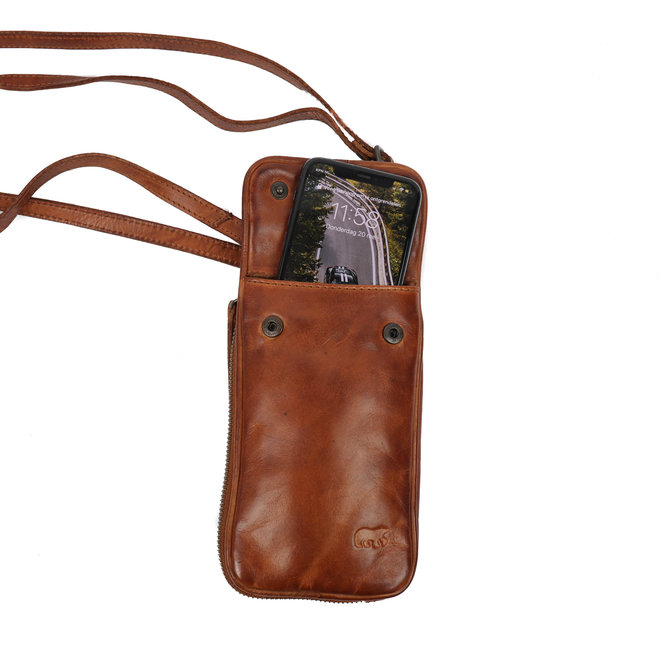 Telefoontasje 'Elske' - CL 41579 Cognac