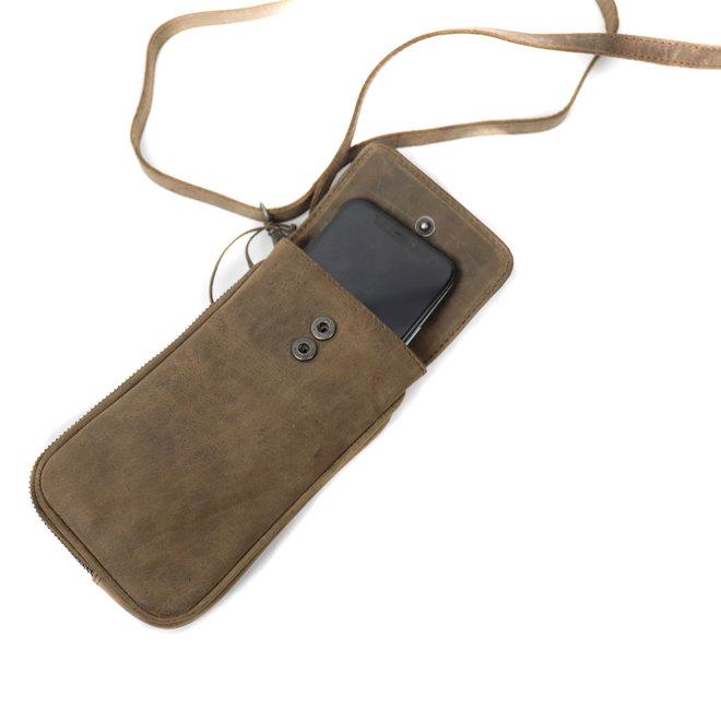 Telefoontasje 'Elske' -HD 2106 Donkerbruin