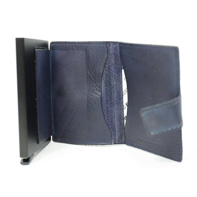 CL15254 Mini Portemonnaie RFID - Blau Figuretta
