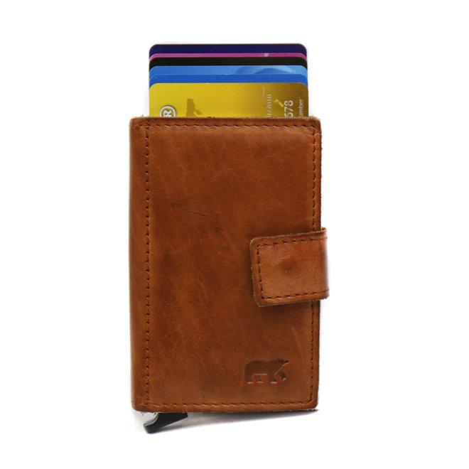 Mini Portemonnee 'Pip' RFID - Cognac CL 15254