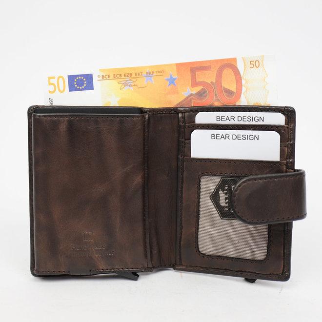 Anti Skim Wallet 'Kris' met Ritsvak - Bruin CL 15253