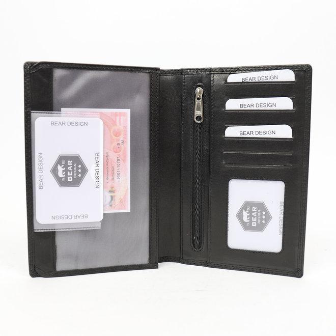 Kennzeichenordner aus Leder - FR 528 Schwarz