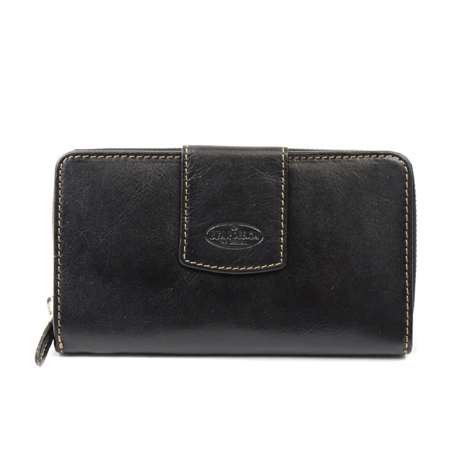 Große Reißverschlusstasche - Schwarz RO2881
