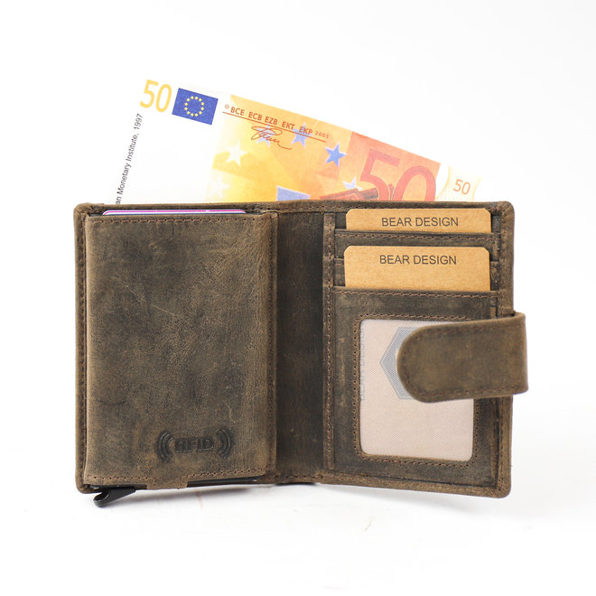 HD15253 Anti Skim Brieftasche Reißverschlusstasche