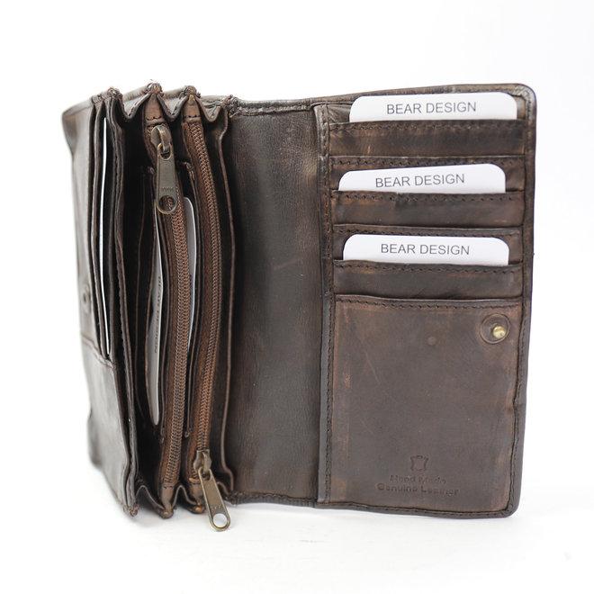 Klassieke overslag portemonnee 'Emma' - CL 782 Bruin RFID