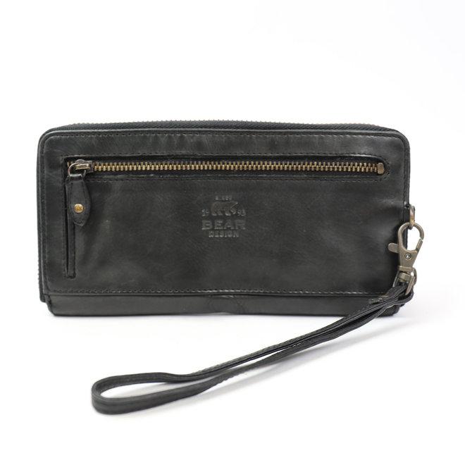 Reißverschlusstasche CL 15882 Schwarz RFID