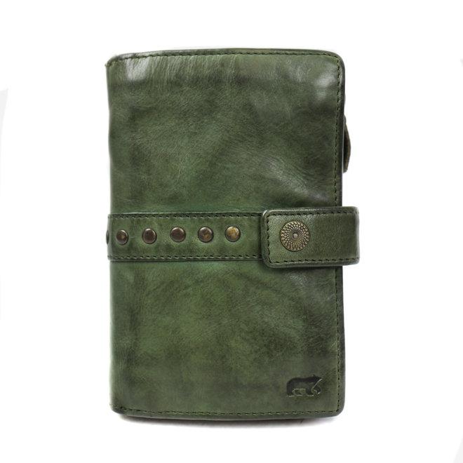 Dames portemonnee 'Sanne' - Groen studs CL 15087