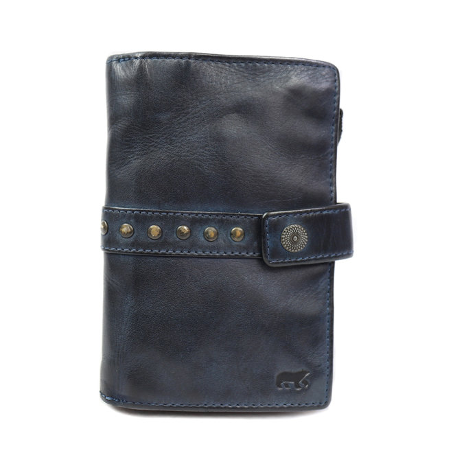 Dames portemonnee 'Sanne' - Blauw studs CL 15087