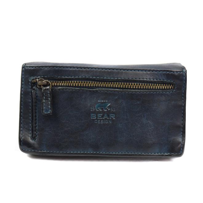 Klassieke overslag portemonnee 'Emma' - CL 782 Blauw RFID