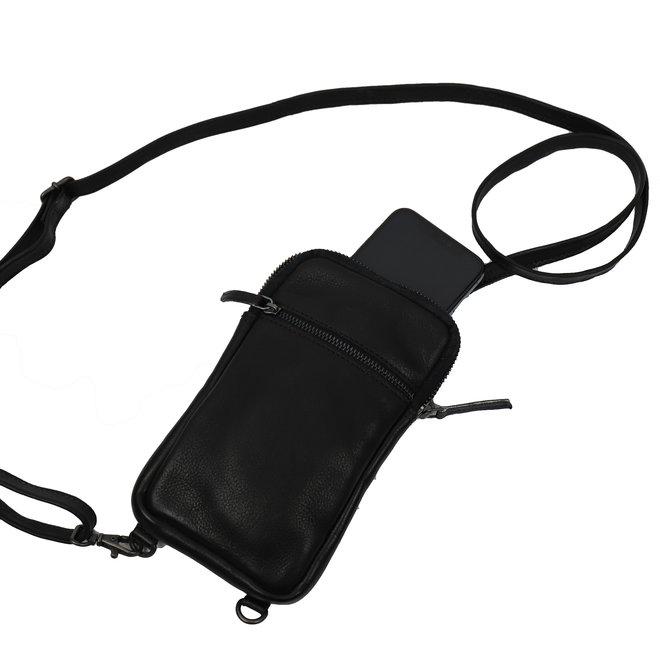 Mini Crossbody/Telefoontasje 'Candy' - CP 2112 Zwart