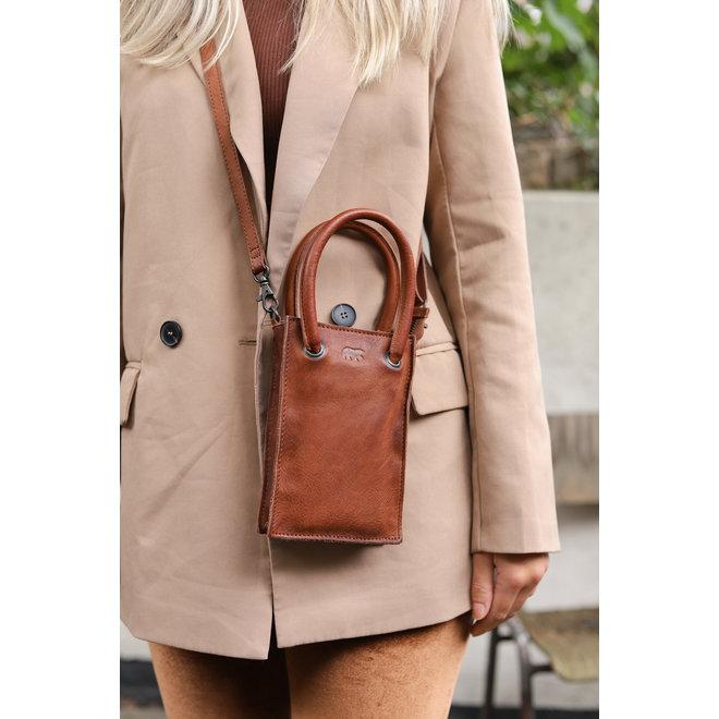 Mini bag 'Lone' - Cognac CP 2156