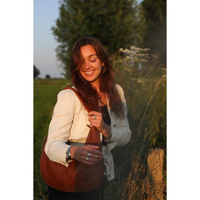 Buidel/Schoudertas 'Kirsten' - Cognac BL 41247