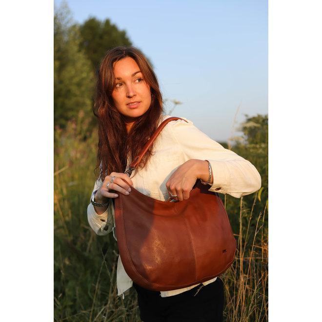 Buidel/Schoudertas 'Kirsten' - Mosterdgeel BL 41247