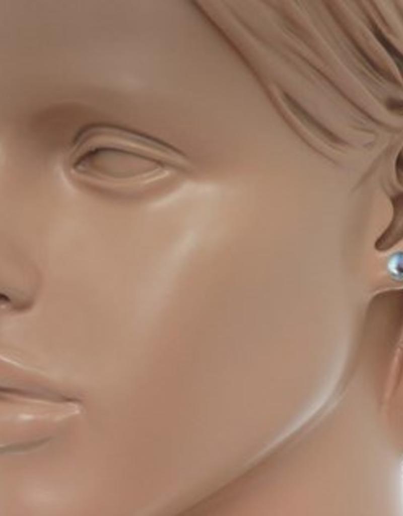 Zilveren oorknoppen - Zoetwaterparels - 8 mm