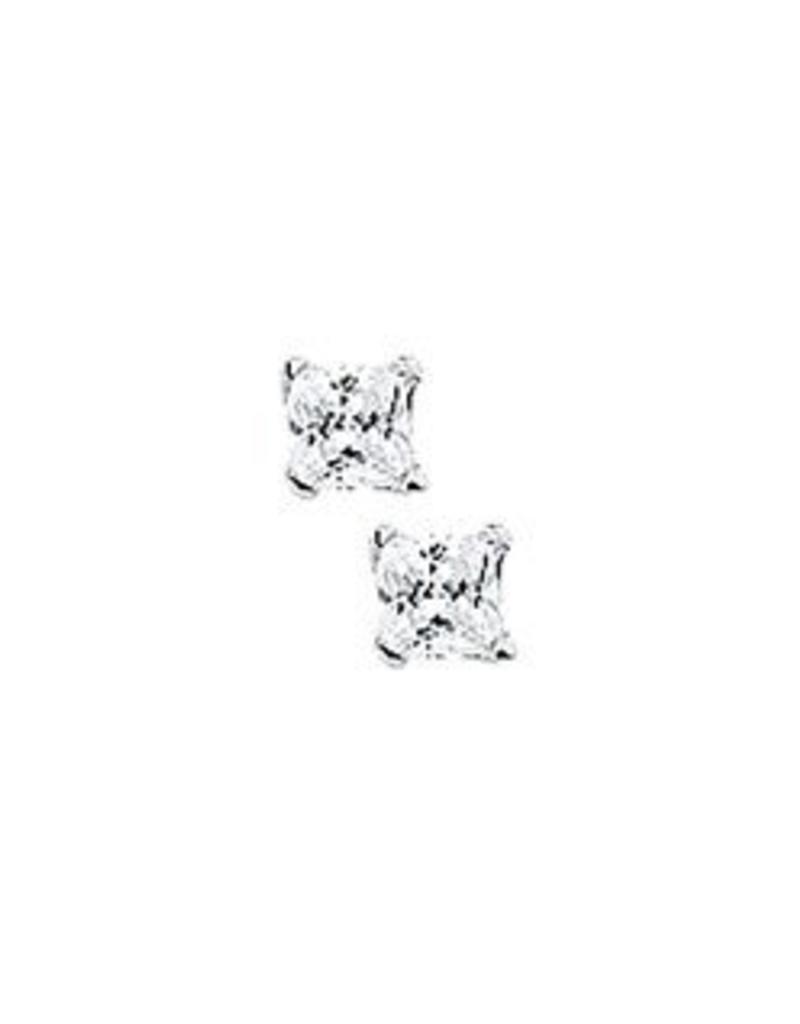 Zilveren oorknoppen - Zirkonia - 3 mm