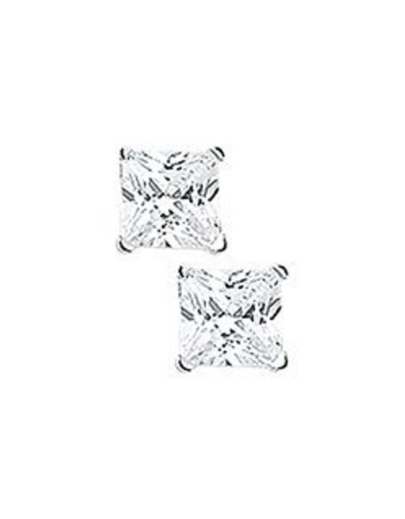 Zilveren oorknoppen - Zirkonia - 5 mm