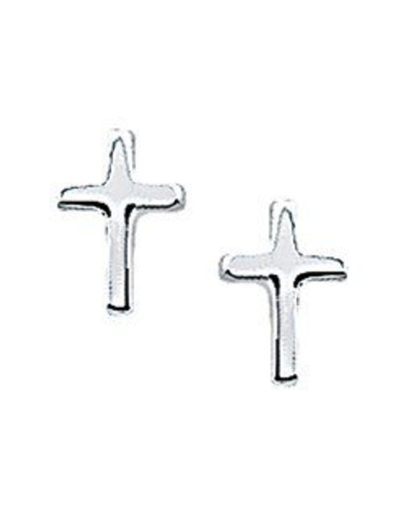 Zilveren oorknoppen - Kruisjes