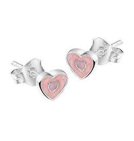 Zilveren oorknoppen - Emaille