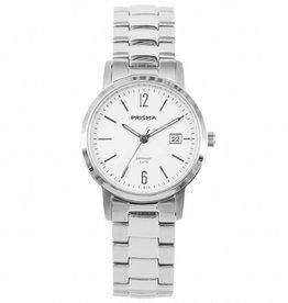 Prisma Prisma - Horloge - Slimline Steel Mrs. White