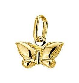 Gouden bedel - 14 karaats - Vlindertje