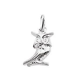 Zilveren bedel - Uil