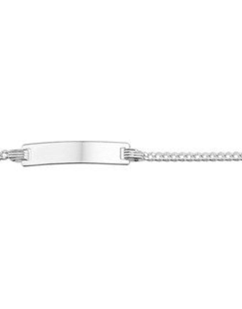 Zilveren plaatarmband - Gourmet -  9-11 cm