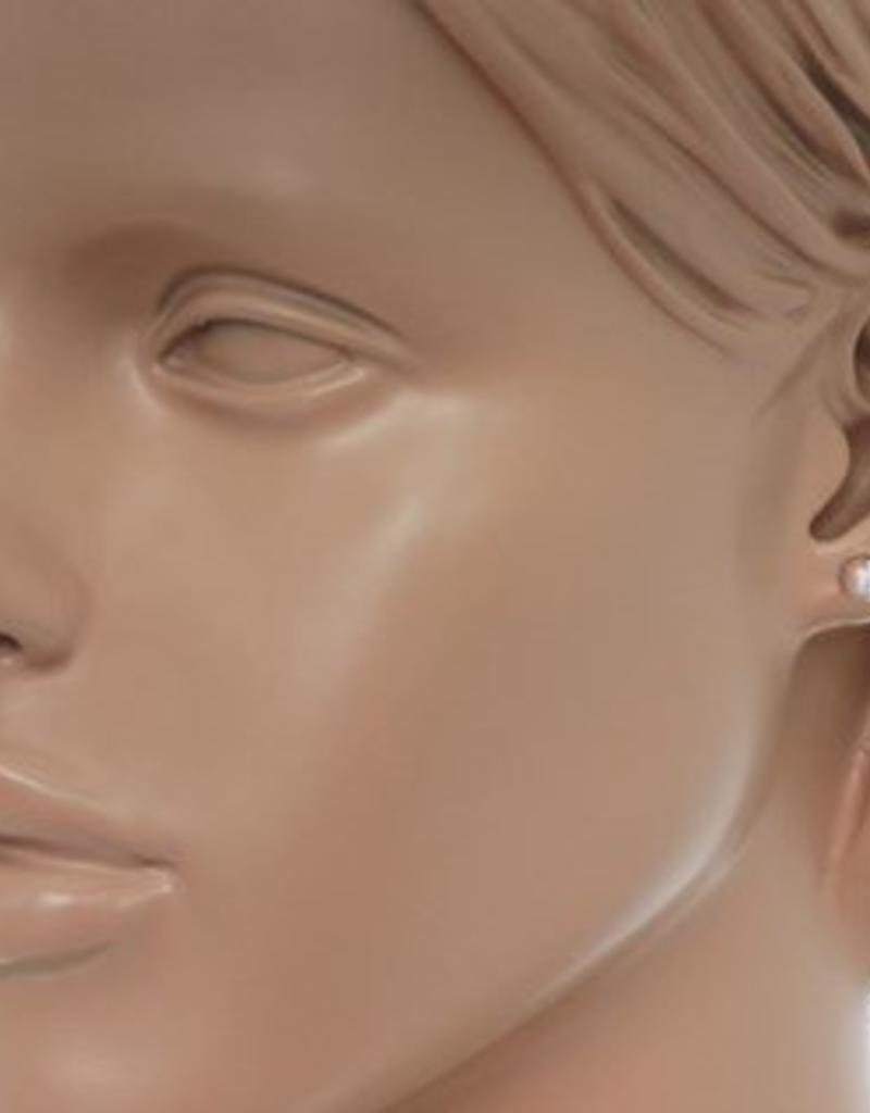 Zilveren oorknoppen - Bol - 6 mm