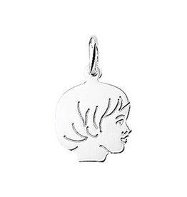 Zilveren kinderkopje - Meisje