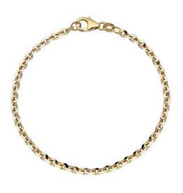 van Leeuwen Gouden armband - Anker - 3.1 mm - 19 cm