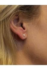 van Leeuwen Gouden oorknoppen - 14 karaats - Zoetwaterparels - Button - 4 mm