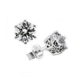 Diamonfire Diamonfire - Zilveren oorknoppen - Solitair - 1.50 ct - Zirkonia