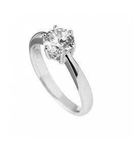 Diamonfire Diamonfire - Zilveren damesring - Solitair - 1.50 ct - Zirkonia - Maat 18